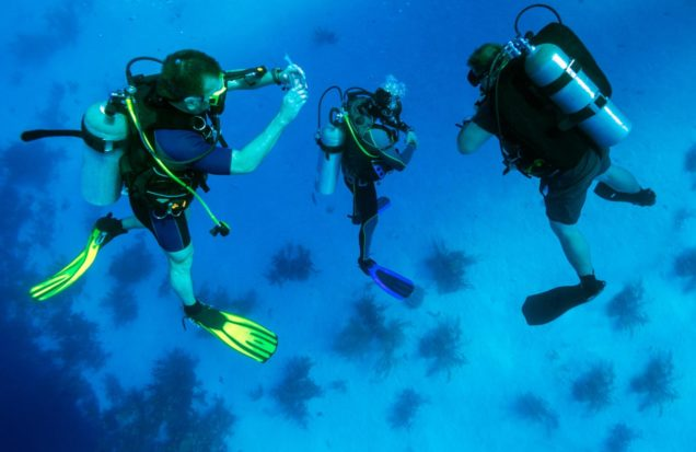 get scuba diving equipment packages from local dive shops in Miami